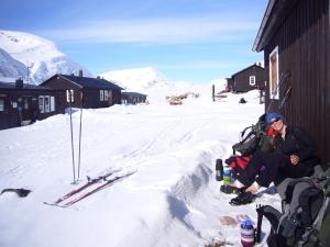 Lunsj i hytteveggen på Sälka i Sverige