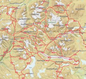 Kart Jotunheimen